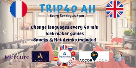 Échange linguistique anglais français + Icebreaker + Snacks boissons inclus billets