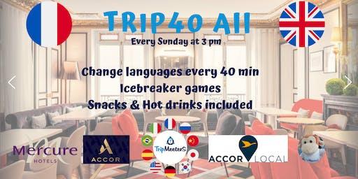 Échange linguistique anglais français + Icebreaker + Snacks boissons inclus
