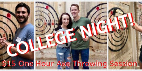 Axe Throwing College Night tickets