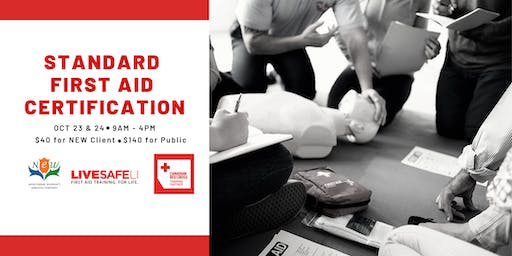 Pre-Registration: First Aid CPR / AED Level C Certification (Toronto, Oct 23 &24)