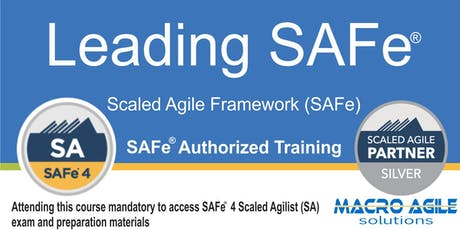 Leading SAFe® Training with Agilist Certification(Guaranteed to Run) tickets