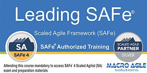 Leading SAFe® (SA) (Scaled Agile Framework) Training- Toronto