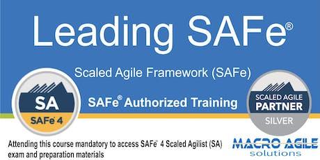 Leading SAFe® (SA) (Scaled Agile Framework) Training tickets
