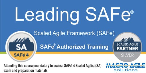 Leading SAFe® (SA) with SAFe® 4 Agilist Certification