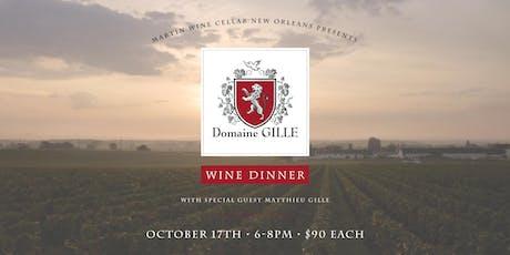 Domaine Gille Wine Dinner tickets