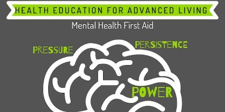 Free Mental Health First Aid Training tickets