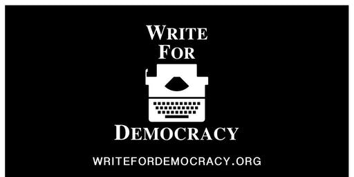 A Write for Democracy event in DC by Maureen Andary