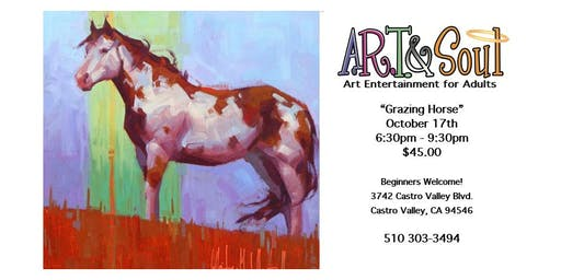 """Paint Night: """"Grazing Horse"""""""