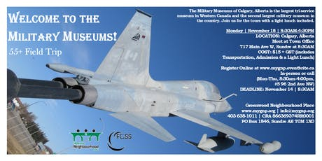 Welcome to the Military Museums! tickets