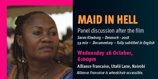 Human Rights Watch Film Festival Nairobi, Screening of Maid in Hell