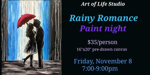 Paint Night: Rainy Romance
