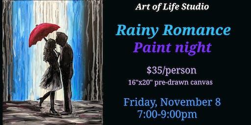 Paint Night: Rainy Romance