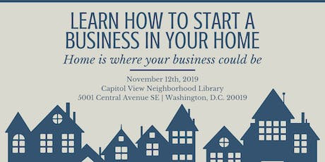 Learn How to Start a Business in Your DC Home tickets