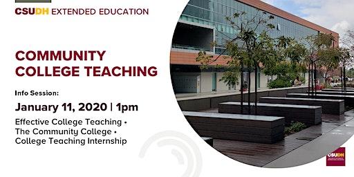 Info Session: Community College Teaching Certificate | CSUDH