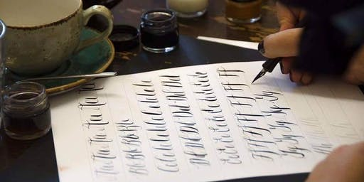Christmas Calligraphy Workshop at Wild Flowers