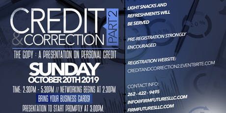Credit & Correction 2 - The Copy tickets
