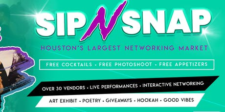 SipNSnap 7- FREE PHOTOSHOOT+ FREE COCKTAILS & FOOD • Networking Market tickets