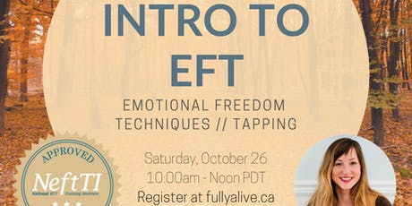 Intro to EFT Tapping - Online tickets