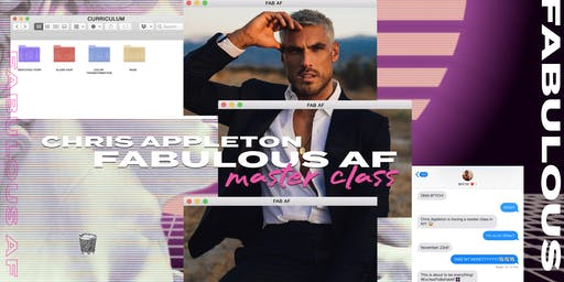 FAB AF MASTERCLASS BY CHRIS APPLETON | N.Y.