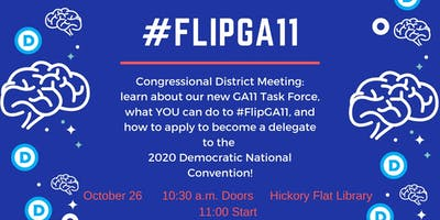 FlipGA11 Fall Congressional District Meeting w/ DPG