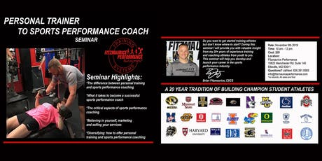 Personal Trainer to Sports Performance Coach Seminar tickets