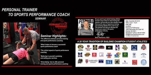 Personal Trainer to Sports Performance Coach Seminar