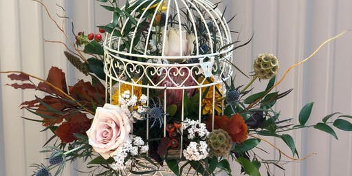 Studio Sips and Stems-Fall Birdcage Design