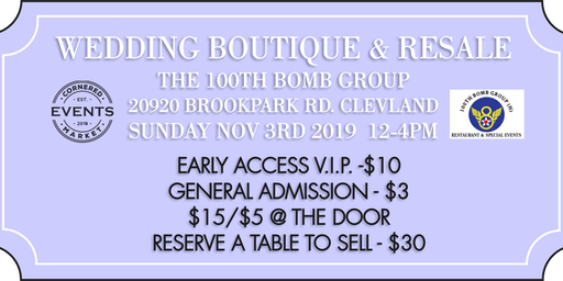 Wedding Boutique Bridal Show and Resale by Cornered Market Events
