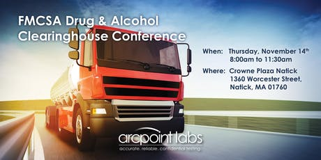 FMCSA Drug & Alcohol Clearinghouse:  What Commercial Carriers Need to Know tickets