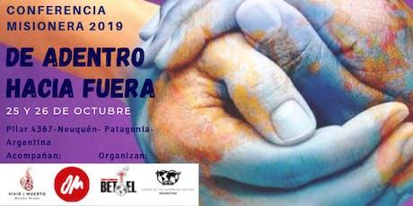 Conferencia Misionera De Adentro hacia Fuera 2019 entradas