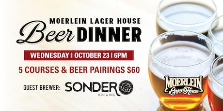 October Beer Dinner with Sonder Brewing tickets