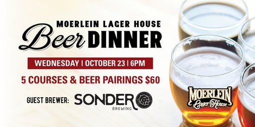 October Beer Dinner with Sonder Brewing
