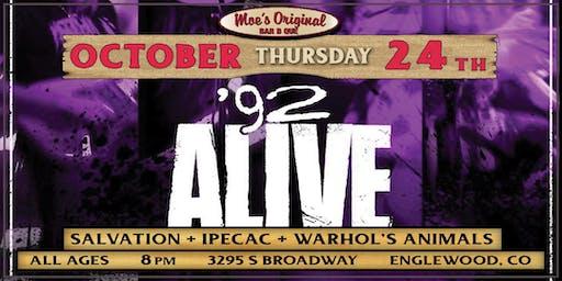 '92 Alive w/ Salvation + Ipecac + Warhol's Animals