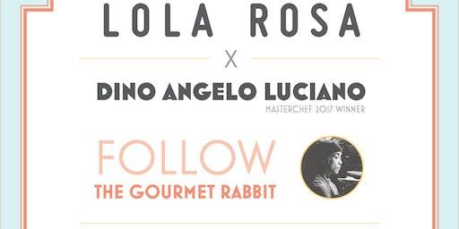 Diner 5 services avec Dino Luciano Masterchef USA 2017 au Lola Rosa Parc