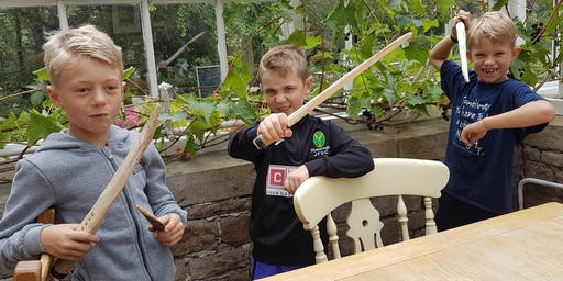 Family Woodcraft Session - Hand Carve a Sword from a log