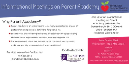 Informational Meetings on Parent Academy