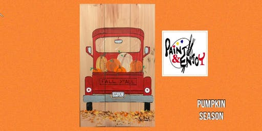"Paint and Enjoy at Nissley Winery ""Pumpkin Season"" on Wood"