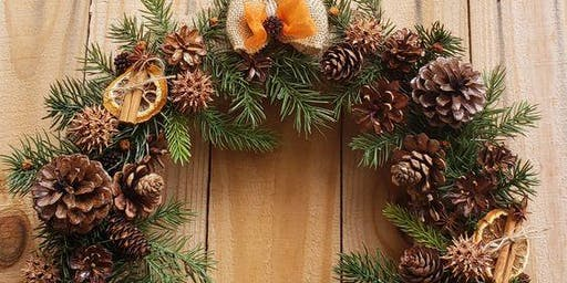 Sips and Stems-Citrus & Cinnamon Wreaths