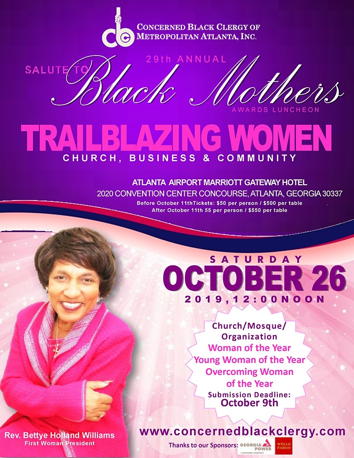 29th Annual Salute to Black Mother's Luncheon image