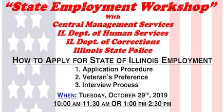 State of Illinois Employment Workshop with CMS, IDHS, IDOC & ISP tickets
