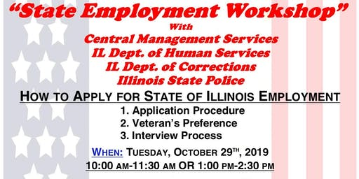 State of Illinois Employment Workshop with CMS, IDHS, IDOC & ISP