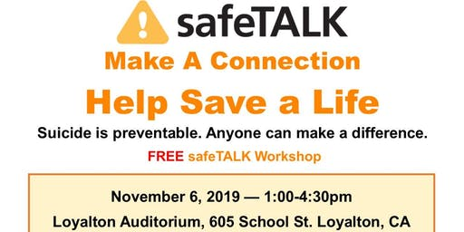 safeTALK Sierra County 11/6/19