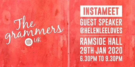 Instameet with guest speaker Helenlee @helenleeloves tickets