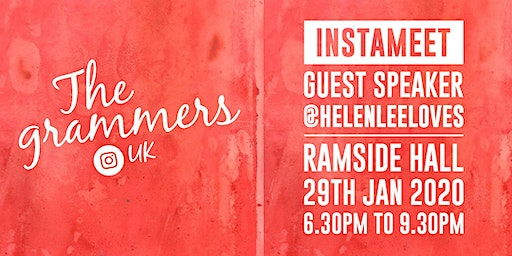 Instameet with guest speaker Helenlee @helenleeloves