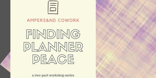 Finding Planner Peace: Part 1 The Basics