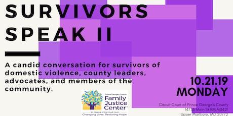 Survivors Speak: A Candid Conversation for Survivors of Domestic Violence tickets
