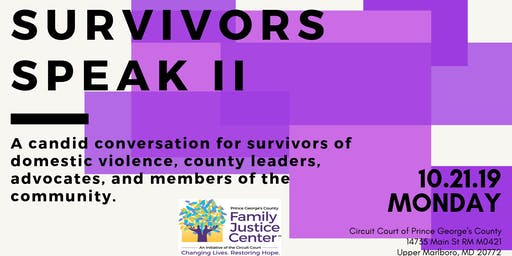 Survivors Speak: A Candid Conversation for Survivors of Domestic Violence