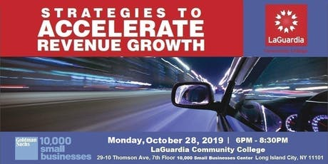 Strategies to Accelerate Revenue Growth tickets