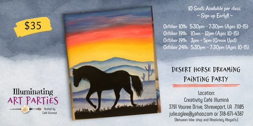 Deset Horse Dreaming Painting Party