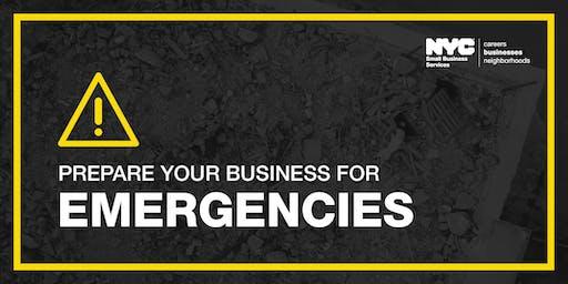 Prepare Your Business for Emergencies Workshop